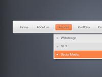 Drop down web menu