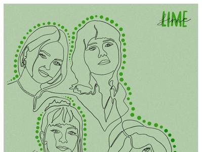 Lime (Band) Portrait graphicdesigner design albumart line drawing artdirection graphicdesign digitalillustration illustraion digitalportrait linedrawing portrait