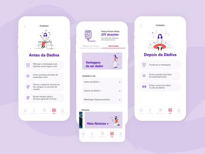 Dávida Mobile App mobile app blood donation app blood donor healthcare illustration product design ui ux design