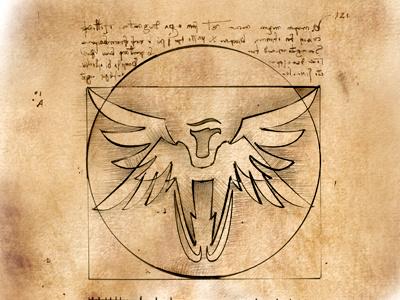 The Vitruvian Eagle davinci vitruvian tribute homage leonardo eagle.
