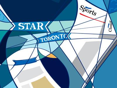 Toronto Star Lounge Mural mural art newspapers logo