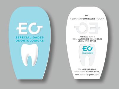 Eo Dental dentist cards o e blue dental tooth