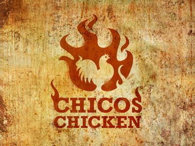 Chicos Chicken V1 chicken rotisserie logo flames hot