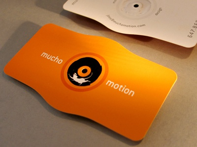 Mucho Motion Cards business cards motion graphics mouse die cut embossing business card hot foil
