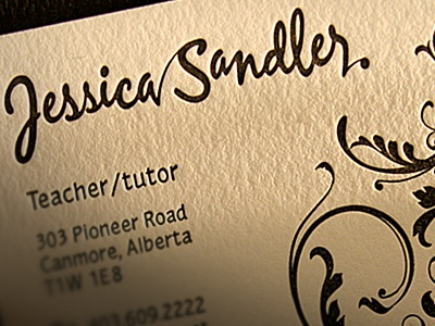Jessica Sandler Card business card type cool best