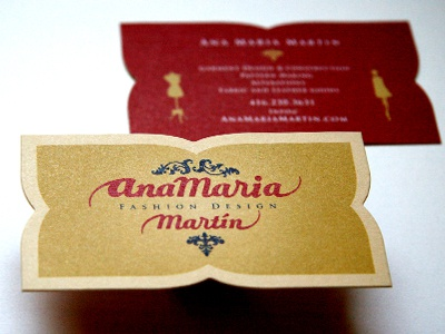 Ana Maria Martin business card rudy die cut