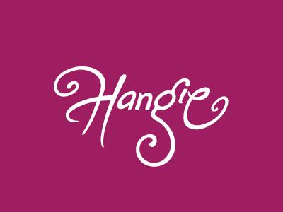 Hangie logo rudy custom type script h