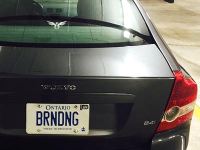 BRNDNG hehehe funny eagle rudy branding plate