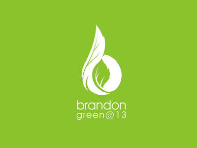 Brandon Green @13 logo rudy leaf green b 13