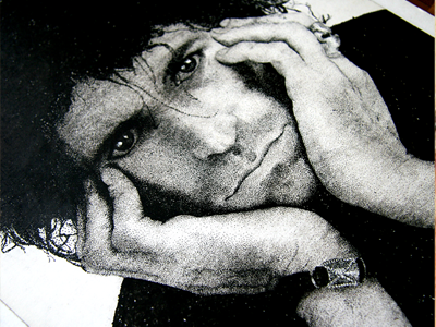 Keith Close keith richards rudy drawing pointillism
