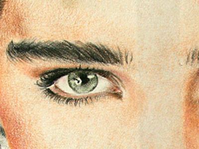 Vintage Brooke brooke eye prismacolours rudy drawing