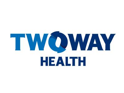 2way Health Logo 2way arrows blue and blue health rudy