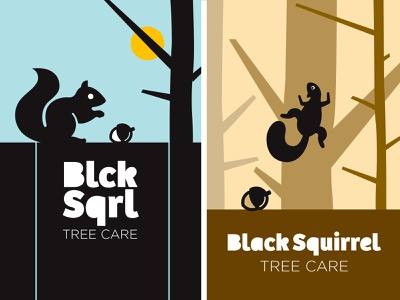 Blck Sqrl Shot rudy business cards sun tree