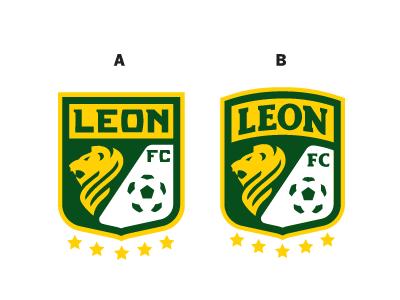 Leon 2 crest lion green yellow leon soccer ball stars