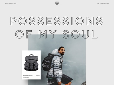 Possessions of My Soul - Peak Performance productshot parallax interactive products campaign design campaign ecommerce peak performance website web ui ux design