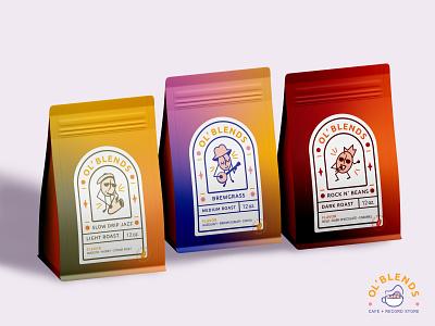 Ol' Blends Branding graphic design illustration brand identity design branding