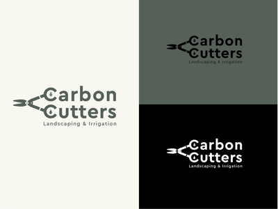 Landscaping Logo typography design logo