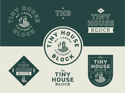 Tiny House Block Exploration design typography illustration california nature forest woods minimal branding logo badge tinyhouse