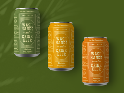 Wash Hands and Drink Beer: Eliqs Drink 4 Good tiki illustration packaging beer can label beer branding beer