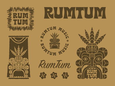 RUMTUM vector illustration design rum rumtum hawaii tiki
