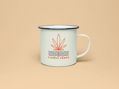 Flower Power Camping Mug