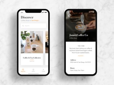 Coffee Shop Finder App iPhone X