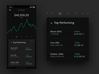 Cryptocurrency App UI Study