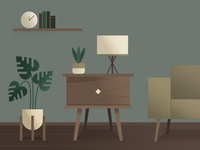 Midcentury Modern Illustration