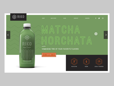 Interactive Hero Slider made in Adobe XD branding typography illustration minimal adobexd madewithadobexd autoanimate slider hero design matcha horchata