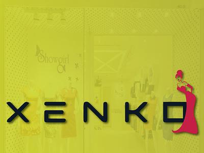 XENKO icon branding animation vector illustrator typography illustration design minimal logo