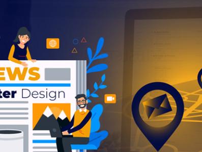 Newletter Design flat icon branding vector design animation illustrator typography minimal illustration