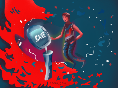 Saving Machine illustration
