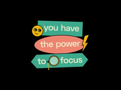You have the power to focus focus productivity mindset typography poster typography quote poster graphic quote graphic design