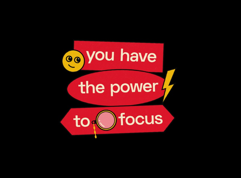 You have the power to focus 2/3 focus mindset typography poster typography quote poster graphic quote graphic design