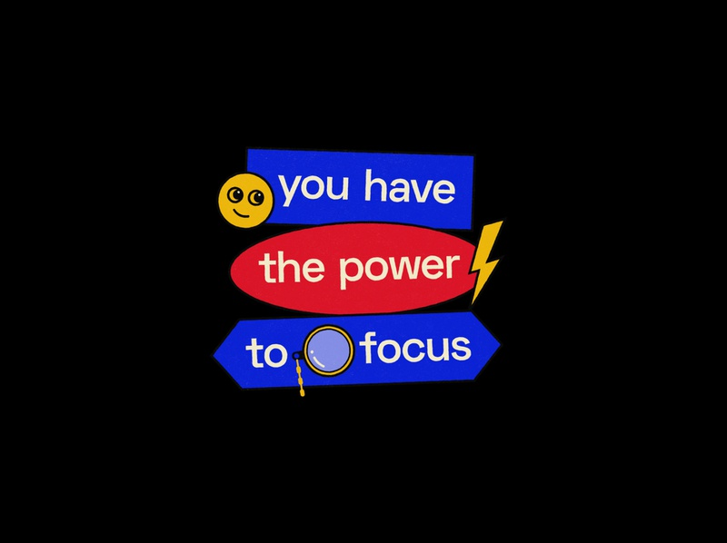 You have the power to focus 3/3 typography poster typography quote poster graphic quote graphic design