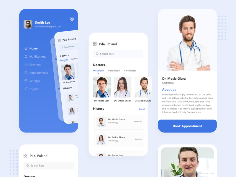 Appointment Booking Concept trending minimalist modern typography delivery colorful mobile doctor appointment doctor booking minimal logo creative best xd ui design branding app
