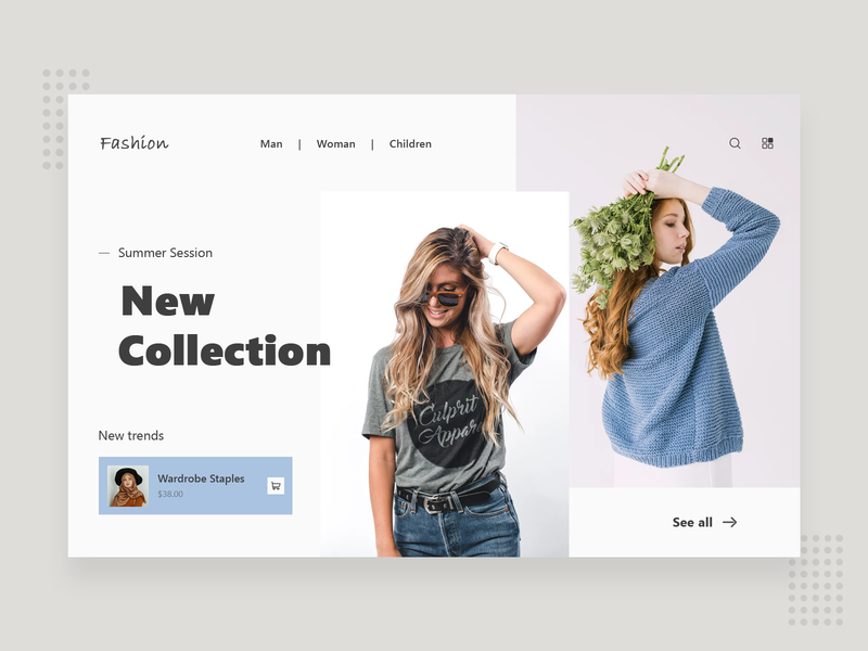 Online Clothes Store minimalist myntra modern trending webdesign website store online ecommerce clothes delivery booking minimal creative colorful best ui xd design branding