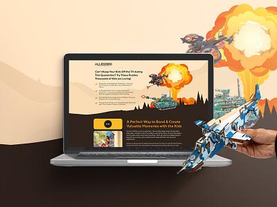 Allessiomo - Concept Mockup Landing Page Design web design psd mockup webflow