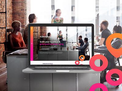 Scale Station - Mockup Website Design web design psd mockup webflow