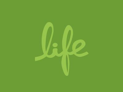 Life life hand-written green up