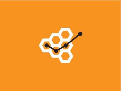 Bee Account bee chart account hive brand logo
