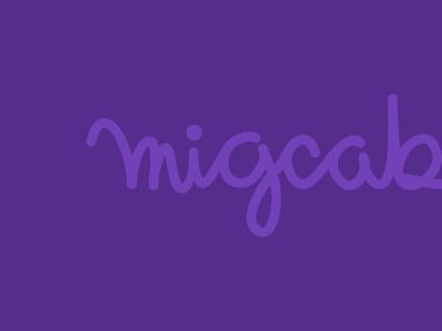 Migcabrera 01 test migcabrera logo brand handrwritting typo calligraphy