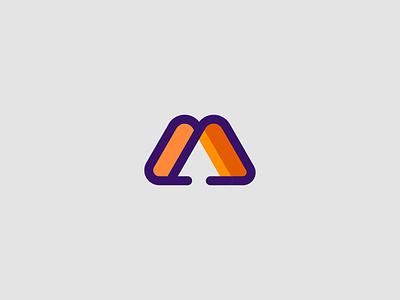 m for migcabrera vector design color branding brand logo