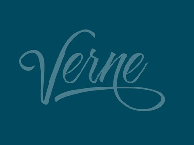 Verne verne risotto font brand logo proposal blue julio verne signature