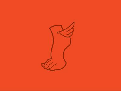 Drfoot Wings version wings foot ankle mercury mercurio griego pies alado logo brand pie greek