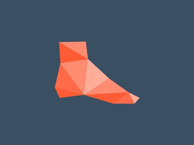 Foot & Ankle course online feet footcare color logo orange triangles shield course online tobillo pie ankle foot