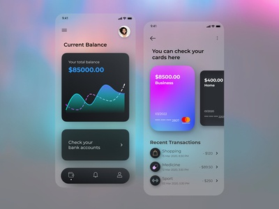 Mobile banking - Mobile App ui wallet app ui payment moneytransfer mobile ui mobileapp finances finance bankingapp banking app design app