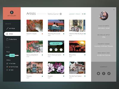 Art Gallery Design ecommerce online store art gallery ui design