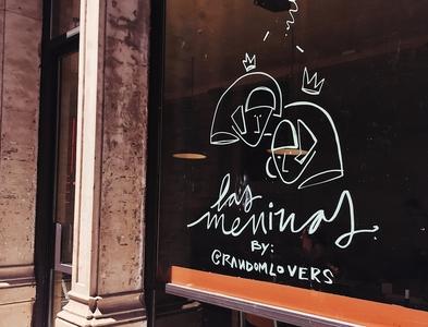 Meninas branding typography illustration