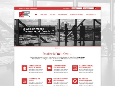 IUT Paul Sabatier / Dpt. MMI - Redesign Concept grid homepage flat design webdesign redesign concept